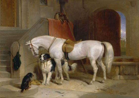 Landseer, Sir Edwin: Favourites, the Property of H.R.H. Prince George of Cambridge. Fine Art Print/Poster. Sizes: A4/A3/A2/A1 (003937)